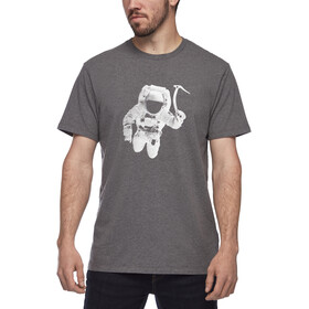 Black Diamond Spaceshot T-shirt Heren, charcoal heather
